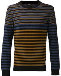 Diesel Brown Striped Sweater - Lyst
