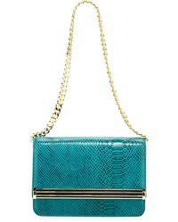 Ivanka Trump - Snakeprint Chain Shoulder Bag Jade - Lyst
