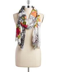 Lord & Taylor | Floral Jungle Print Scarf | Lyst