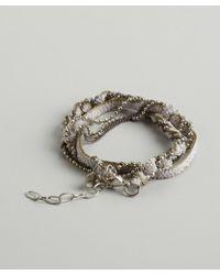 Sogoli - Lavender And Olive Braided Chain Wrap Bracelet - Lyst