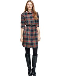 Brooks Brothers Longsleeve Cotton Dress - Lyst
