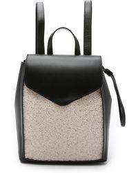 Loeffler Randall - Shearling Mini Backpack - Black/natural - Lyst