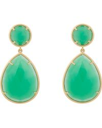 Irene Neuwirth Chrysoprase Gold Doubledrop Earrings - Lyst