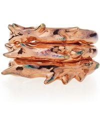 Katie Design Jewelry - Rose Gold Vermeil Triple Thorn Ring - Lyst