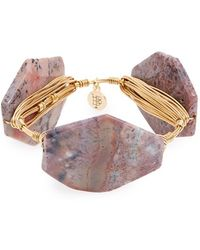 Bourbon and Boweties - Stone Bracelet - Purple - Lyst