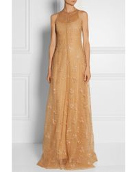 Mary Katrantzou Glitter-embellished Tulle Gown - Lyst