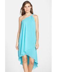 Laundry by Shelli Segal Asymmetrical Layered Chiffon One-Shoulder Dress - Lyst