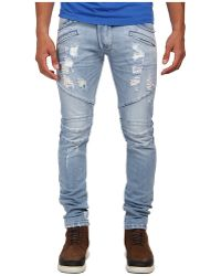 Pierre Balmain Light Wash Motor Denim - Lyst