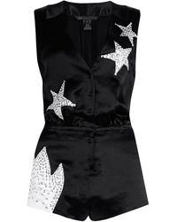 Marc By Marc Jacobs Cosmo Night Satin Playsuit - Lyst