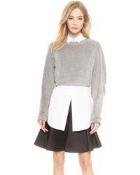 Viktor & Rolf | Cropped Sweater  Grey | Lyst