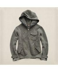 RRL Wool Half-zip Hoodie - Lyst