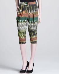 Donna Karan New York Tribalprint Cropped Pants - Lyst