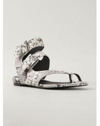 Ash 'Opyum Diamante' Sandals - Lyst