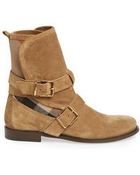 Burberry 'Worcester' Boot - Lyst