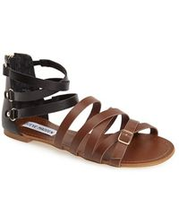 Steve Madden 'Worldly' Colorblock Strappy Sandal - Lyst
