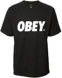 Obey Logo T-shirt - Lyst