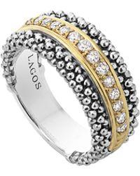 Lagos | Pavé Diamond Caviar Band Ring | Lyst