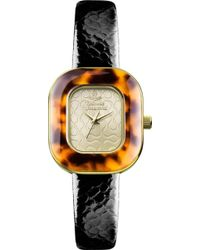 Vivienne Westwood Vv112gdbr Time Machine Gold-toned and Leather Watch - Lyst