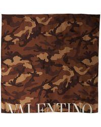 Valentino Camouflage Twill Scarf - Lyst