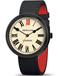 Newgate Watches - Wwlkngk018lk Unisex King Stainless Steel Leather Strap Watch - Lyst