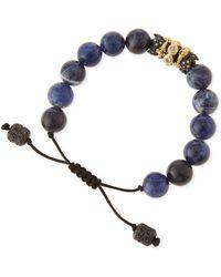 Armenta - Old World Sodalite Beaded Diamond Bracelet - Lyst