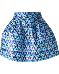 P.A.R.O.S.H. Embroidered Puff Ball Skirt - Lyst