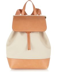 Mansur Gavriel - Canvas And Leather Backpack - Lyst