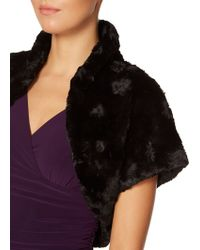 Eliza J - Faux Fur Caplet Bolero - Lyst
