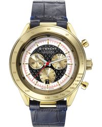 Givenchy Five Pale-gold Plated Stainless Steel Chronograph Watch - Lyst