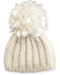 Grevi - Knit Sequin-trim Beanie - Lyst