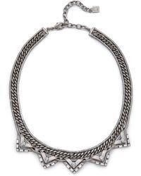 DANNIJO - Lizzie Necklace - Silver/Crystal - Lyst
