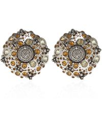 Stephen Dweck - Silver Citrine And Diamond Clip-on Earrings - Lyst