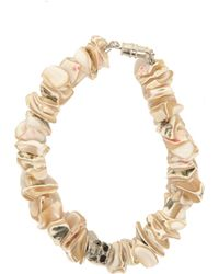 Duchess Of Malfi - Shell Fragment Bracelet With Skull - Lyst
