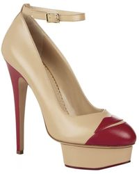 Charlotte Olympia Kiss Me Dolores Leather Court - Lyst