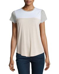 Vince Short-Sleeve Colorblock Tee - Lyst