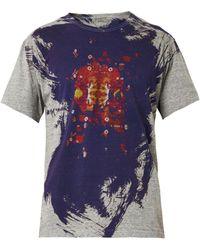 Yohji Yamamoto Skullprint Jersey Tshirt - Lyst