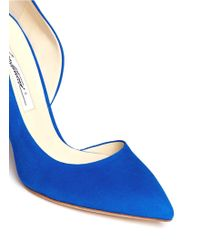 Brian Atwood Patty Suede Cutout Pumps - Lyst