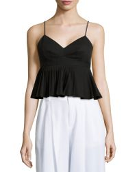 Nanette Lepore Pleated Peplum Tank Top - Lyst