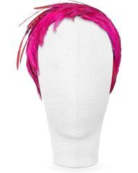 Nana' - Bettina - Fuchsia Feather Headband - Lyst