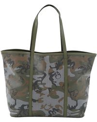 Lucien Pellat Finet - Camouflage Skull Large Tote Bag - Lyst