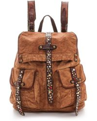Campomaggi - Rucksack with Leather Trim Cognac - Lyst