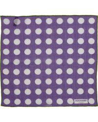 Duchamp Polka Dot Pocket Square - Lyst