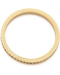 Jamie Wolf - Thin Pave Black Diamond Band - Gold - Lyst