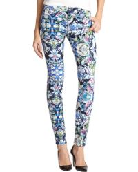 7 For All Mankind Kaleidoscopic Printed Skinny Jeans - Lyst