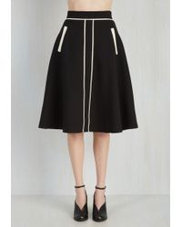 ModCloth | Roving Reporter Skirt In Black | Lyst