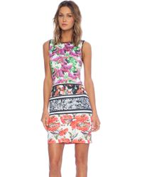 Clover Canyon Floral Scarf Print Shift Dress - Lyst