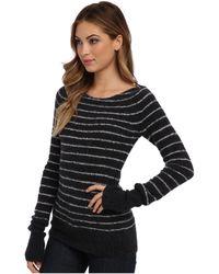 Free People Misty Stripe Pullover Sweater - Lyst