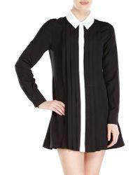 Rachel Zoe Laurel Pleated Shirtdress - Lyst