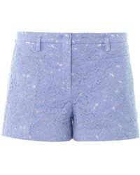 N°21 - Lace Cotton Shorts - Lyst