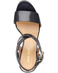 Nine West Nofrills Wedge Sandals - Lyst
